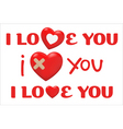 valentines day type text vector image vector image