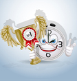 Watch smile gives award to the best employee vector image vector image