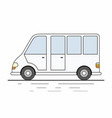 white delivery van on white background vector image vector image