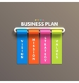 Banner business infographic template Business vector image
