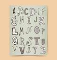 Sketch alphabet poster vector image