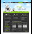 site with a bag of dollars for business vector image