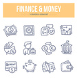 Finance Money Doodle Icons vector image