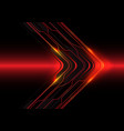 abstract red light line circuit arrow direction vector image vector image