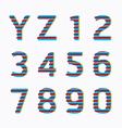 alphabet modern paper line colour concept vector image