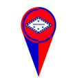arkansas map pointer location flag vector image vector image
