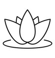 beauty lotus icon outline style vector image vector image