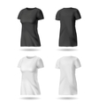Black and White T shirt vector image