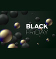 black friday sale banner with black gold vector image