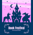 book festival banner template silhouette of vector image vector image