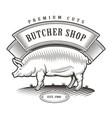butcher shop vintage emblem vector image