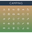 Camping Line Icons vector image vector image
