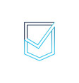 check shield logo icon vector image vector image