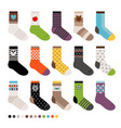 childrens socks icon set vector image vector image