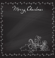 Christmas chalk background vector image vector image