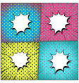 comic bright explosive colorful composition vector image vector image
