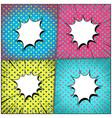 comic bright explosive colorful composition vector image