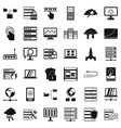 data icons set simple style vector image vector image