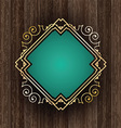 decorative frame on wood 2604 vector image vector image