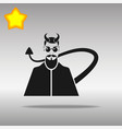devil black icon button logo symbol vector image vector image
