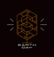 Earth day card with the image of a stylized tree vector image