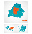 editable template map belarus with marks