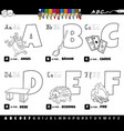educational cartoon alphabet letters set from vector image vector image