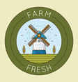 farm fresh product - emblem logotype pack vector image vector image