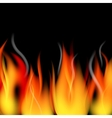 fire flames and smoke vector image