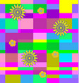 flowers on squares vector image vector image