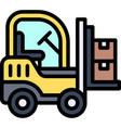 forklift icon transportation related vector image