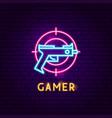 Gamer neon label
