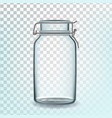 glass can empty container for storage pasta vector image vector image