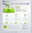 Grey-green website with apple vector | Price: 3 Credits (USD $3)
