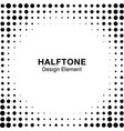halftone circle dots frame background square vector image vector image