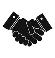 hand peace icon simple black style vector image vector image