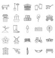 homestead icons set outline style vector image vector image