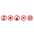 icon prohibited connection electric plug vector image