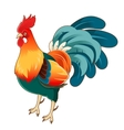 Isometric rooster icon vector image