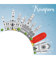 kanpur skyline with gray buildings blue sky and vector image vector image