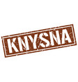 knysna brown square stamp vector image vector image
