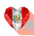 logo symbol of love peru vector image vector image