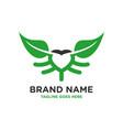love leaf logo design vector image