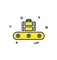 luggage icon design vector image vector image