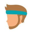 man head faceless with sport headband vector image vector image