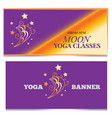 moon banner set yoga classes concept print vector image vector image