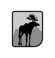 moose logo deer emblem animal with horns wild vector image