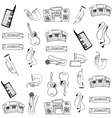 Object music pack doodles vector image