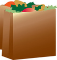 Paper Grocery Sacks vector image vector image