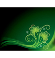 patrick floral background with shamrock vector image vector image